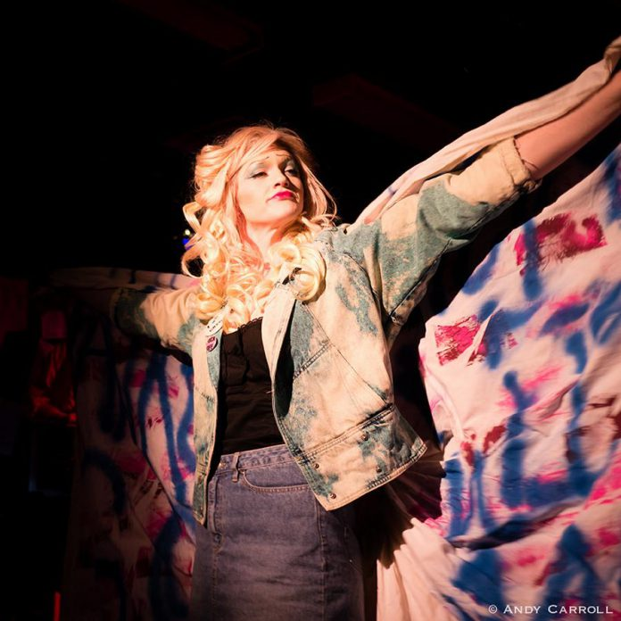 "kawarthaNOW Theatre reviewer Sam Tweedle says Conner Clarkin's performance as Hedwig is ""unforgettable and will leave you breathless"".   (Photo: Andy Carroll)"