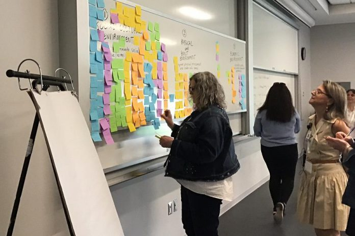 Around 200 people gathered at Trent University on May 21 and 22, 2019 the two-day national Inviting Resilience conference. Participants included service providers, researchers, administrators, and community members.  (Supplied photo)