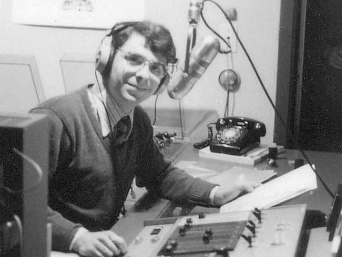 John Kenneth Muir at Trent Radio at Lady Eaton College in Peterborough in 1979. Muir passed away on June 3, 2019 at the age of 63. (Photo: Trent Radio)