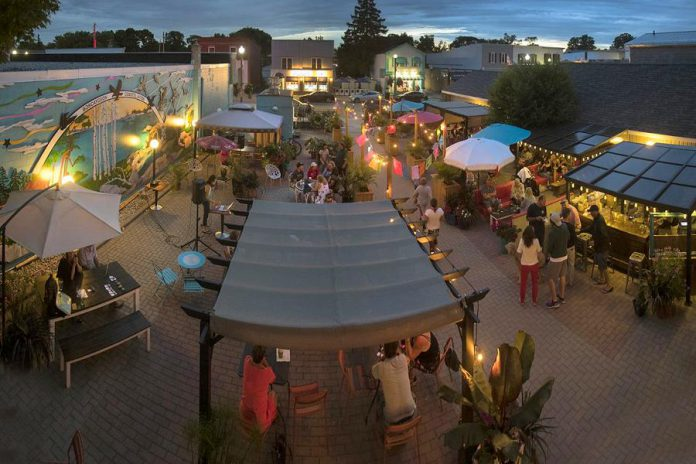 Kawartha Coffee Company in Bobcaygeon has one of the largest patios in the Kawarthas, with space for 140 to eat, drink, and enjoy a summer's day or night. (Photo: Fred Thornhill)
