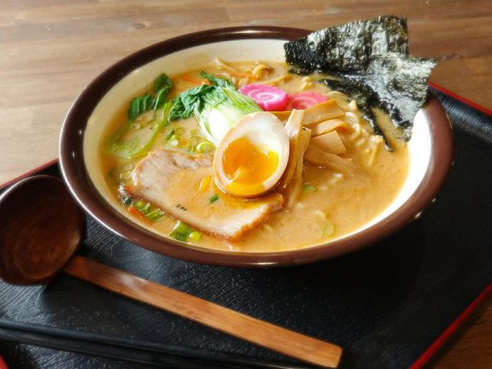Tora Bistro has brought authentic Japanese ramen to downtown Peterborough, including their popular Tonkotsu ramen that featues a broth simmered for 12 hours. (Photo: Madeline Gingrass)