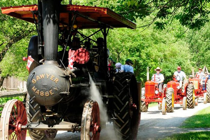 Local collectors will display some of the oldest antique tractors and steam engines around at the 23rd annual Father's Day Smoke & Steam Show, which takes place from 10 a.m. to 4 p.m. on Sunday, June 16, 2019 at Lang Pioneer Village Museum in Keene. (Photo courtesy of Lang Pioneer Village Museum)