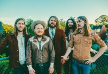 The Sheepdogs, including Bailieboro's own Jimmy Bowskill (second from left), are performing a free sponsor-supported outdoor concert at Peterborough Musicfest in Del Crary Park in downtown Peterborough on July 24, 2019. (Photo: Matt Dunlap)