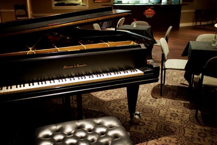 A grand piano is available in the Nexicom Studio. (Photo courtesy of Showplace Performance Centre)