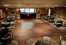 Showplace Performance Centre has three spaces available for rent: the Erica Cherney Theatre, the Nexicom Studio, and the main lobby. The Nexicom Sutdio can seat 100 people comfortably, with a maximum capacity 200 people, and includes standard bar services. (Photo courtesy of Showplace Performance Centre)
