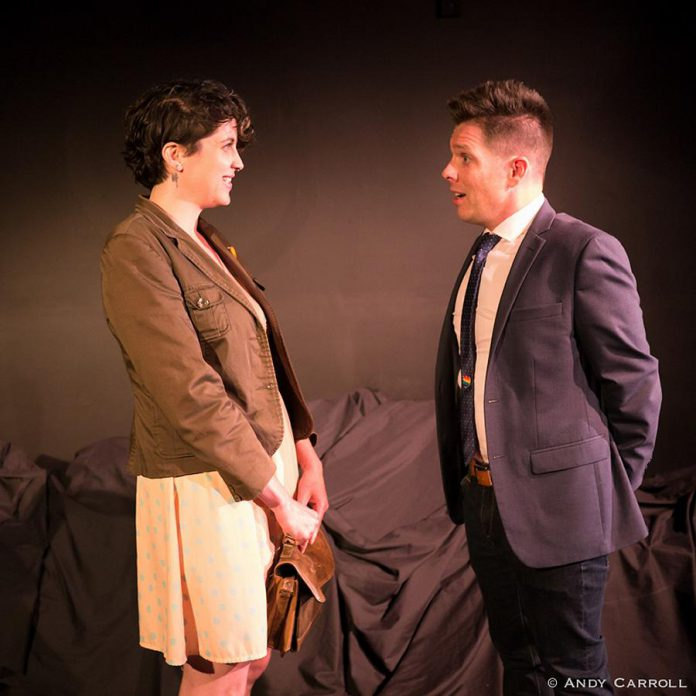 Shannon McKenzie and Mark McGilvray perform the scene as a heterosexual couple. (Photo: Andy Carroll)