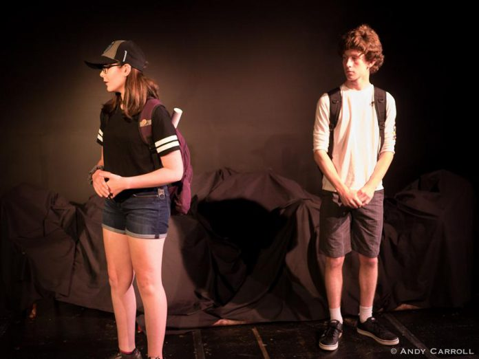 Samuelle Weatherdon and George Knechtel perform the scene as awkward teenagers discovering love for the first time. (Photo: Andy Carroll)