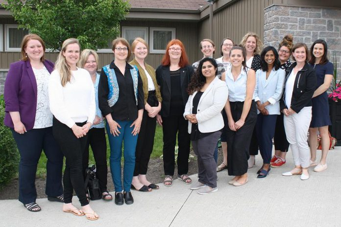 Lynn Zimmer (centre) with the board of directors of YWCA Peterborough Haliburton. The executive director announced her upcoming retirement at the organization's annual general meeting on June 20, 2019. Zimmer has been at the helm of the women's organization for the past 35 years. (Photo courtesy of YWCA Peterborough Haliburton)