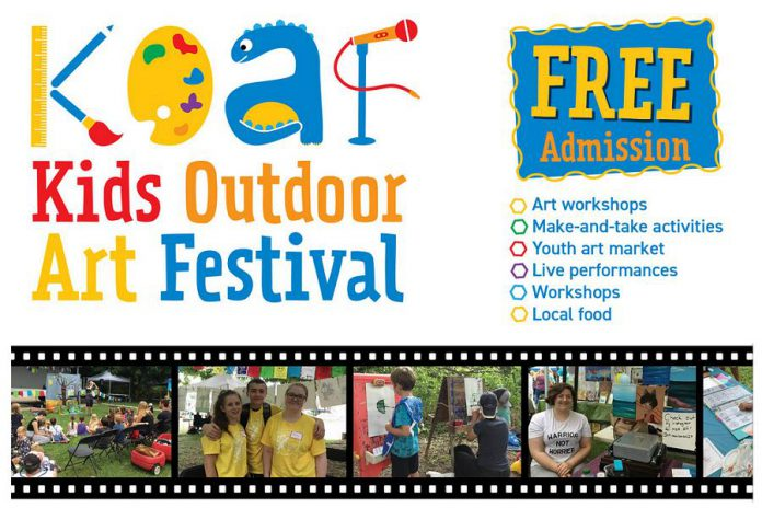 The Kids Outdoor Art Festival is a free event on August 24, 2019 at the Visual Arts Centre of Clarington in Bowmanville. (Graphic courtesy of Visual Arts Centre of Clarington)