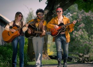 "Musicians Kate Suhr, Griffin Clark, and Owen Stahn, who are currently starring in Beau Dixon's ""Bloom: A Rock 'n' Roll Fable"" at 4th Line Theatre, will be performing their own music at 4th Line's Midsummer Night's Music concert at St. Thomas's Anglican Church in Millbrook on July 20, 2019. The line-up also includes fellow performers and musicians Justin Hiscox, Mark Hiscox, and Geoff Hewitson, as well as Melissa Payne, who will be making her 4th Line Theatre debut in ""Carmel"" in August. (Photo: Wayne Eardley / Brookside Studio)."