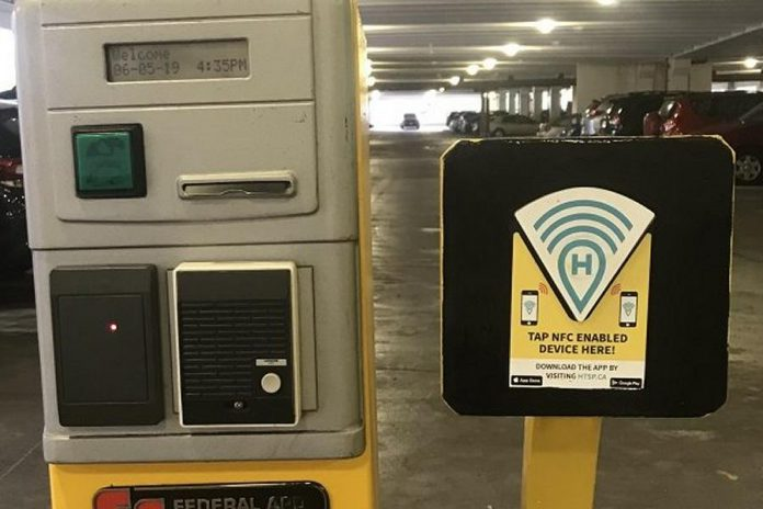 The HotSpot parking app can now be used to pay for parking in downtown Peterborough parking garages. (Photo: City of Peterborough)