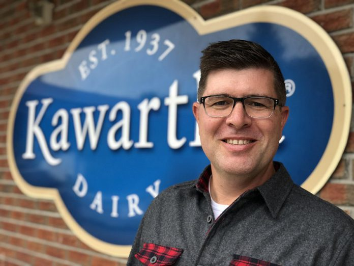 Brian Kerr, CEO and general manager of Kawartha Dairy in Bobcaygeon, has been profiled by the Globe and Mail. A Bobcaygeon native who previously worked for Kraft Heinz Canada, Kerr has been working at Kawartha Dairy since September 2018. (Photo via strategyonline.ca)