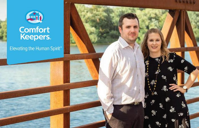 Corey and Alyssa Rowe are the owners of Comfort Keepers Peterborough. (Photo: Comfort Keepers Peterborough)