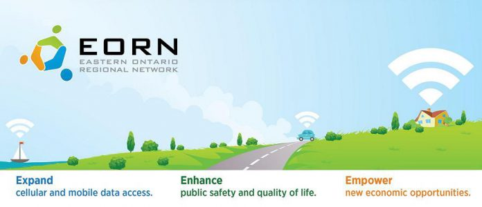 The Eastern Ontario Regional Network,  a non-profit organization created by the Eastern Ontario Wardens' Caucus,  has been leading the charge to improve cellular broadband and connectivity in eastern Ontario. (Graphic: EORN)
