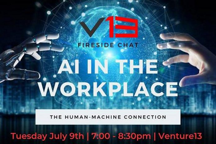 Fireside chat on artificial intelligence in the workplace at Venture13 in Cobourg on July 9<
