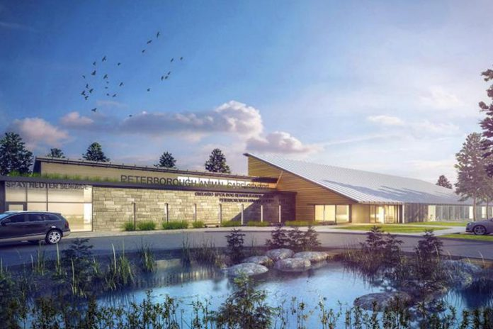 A rendering of the Peterborough Humane Society's planned new Peterborough Animal Care Centre. (Illustration: Lett Architects)