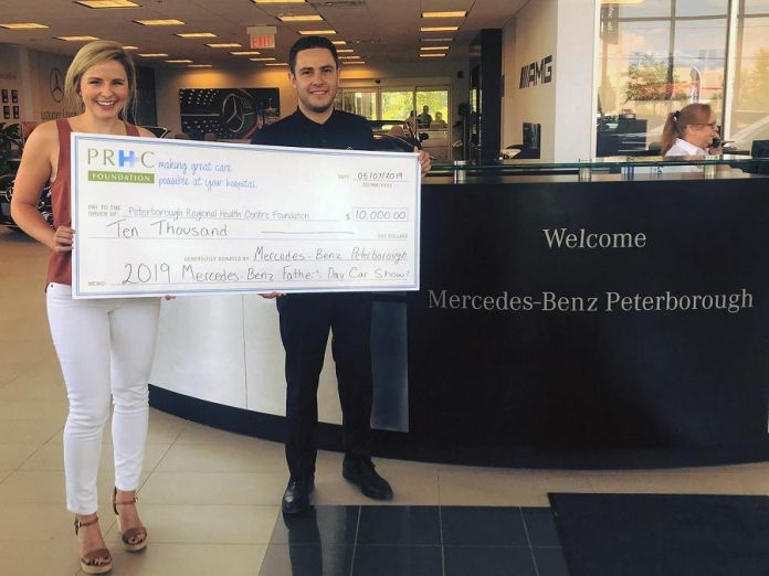 Mercedes-Benz Peterborough with a $10,000 cheque Peterborough Regional Health Centre Foundation. (Photo courtesy of PRHC Foundation)