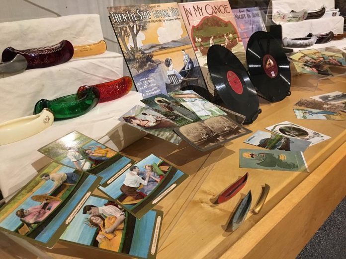 The Canadian Canoe Museum has a new collection of canoe-themed items including sheet music, records, and beautiful vintage postcards. (Photo courtesy of The Canadian Canoe Museum)