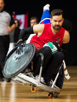Cody Caldwell competing at the Paralympic Games in Rio de Janeiro in Brazil in 2016.  (Photo: Wheelchair Rugby Canada)