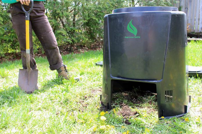 When city staff install your backyard composter, they will choose the best location to ensure great results, and provide you with the resources you need for successful composting. (Photo: Karen Halley)