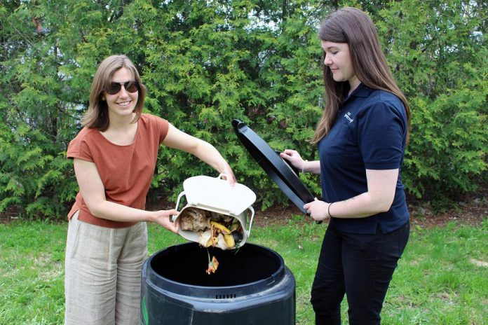 This year, the Kitchen to Compost program includes a countertop food scrap container for easy kitchen cleanup and transport to the backyard composter. (Photo: Karen Halley)