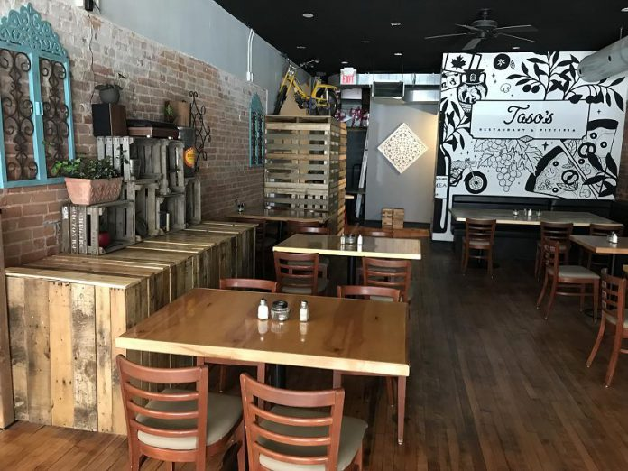 Taso's Restaurant and Pizzeria has been completely renovated. You will find plenty of exposed brick, light hardwood floors, custom maple tables and murals. (Photo: Taso's Restaurant and Pizzeria)