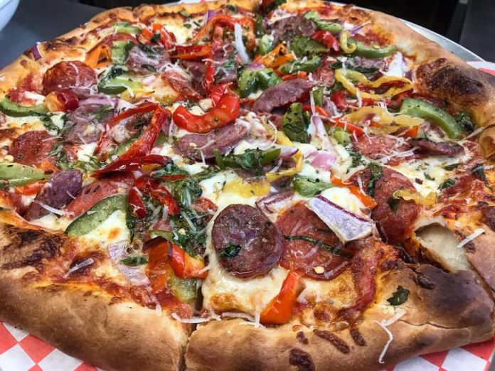 Don't forget the pizza! Taso's allows you to customize your pie. (Photo: Taso's Restaurant and Pizzeria)