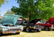 Antique and classic cars and vintage motorcycles, as well as antique and vintage bicycles, will be on display at Lang Pioneer Village Museum in Keene during the 23rd annual Transportation Day Car & Motorcycle Show on Sunday, July 14, 2019. (Photo courtesy of Lang Pioneer Village Museum)
