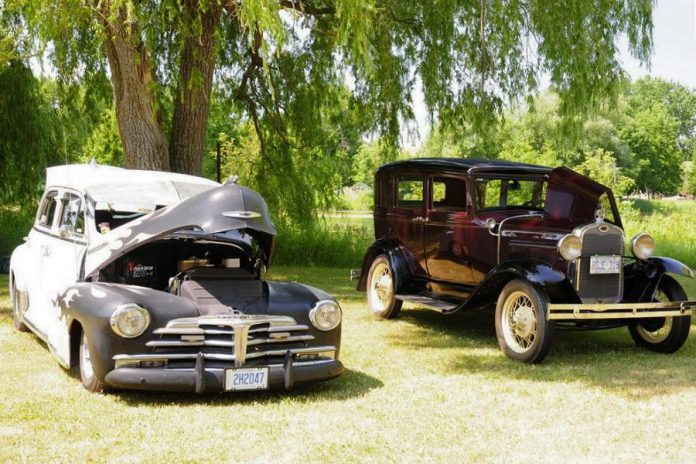 The 23rd annual Transportation Day Car & Motorcycle Show, taking place at Lang Pioneer Village Museum in Keene on July 14, 2019, is a chance to look under the hood of some rarely seen antique and vintage automobiles. (Photo courtesy of Lang Pioneer Village Museum)