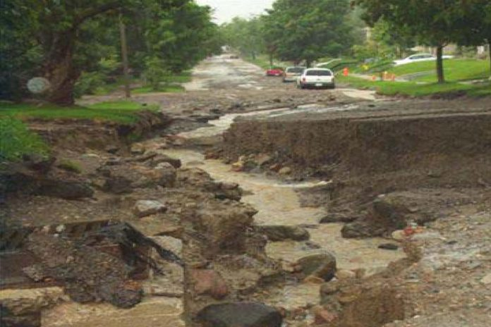 The flood also resulted in significant damage to area roads.