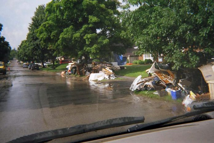 Around 12,500 tons of materials were placed in the landfill in the two weeks following the flood (four times the normal amount).