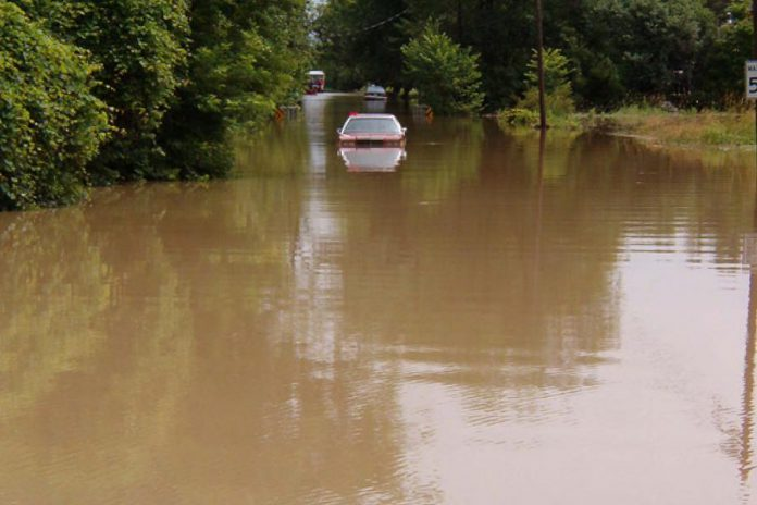 Due to the flood waters, 25 people who were trapped in or on cars needed to be rescued.