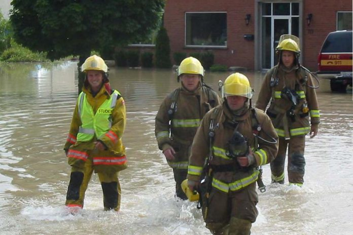 Peterborough's Fire Department was inundated with calls from across the entire city, ranging from flooded basements to fire alarms.