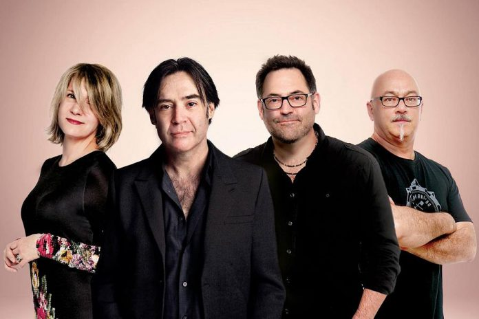 Crash Test Dummies (Ellen Reid, Brad Roberts, Dan Roberts, and Mitch Dorge) reunited, minus original member Ben Darvill, for a 2017 concert in Winnipeg and subsequently decided to tour again. The band performs a free, sponsor-supported concert at Peterborough Musicfest at Del Crary Park in downtown Peterborough on July 13, 2019. (Publicity photo)