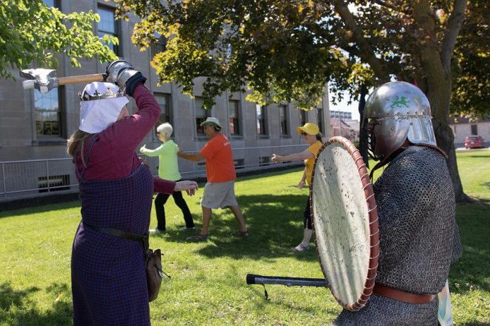 Tai chi and demonstrations of medieval combat are two of the more than 50 family-friendly activities that attendees can participate in at Peterborough Pulse 2019. (Photo courtesy of Peterborough DBIA).