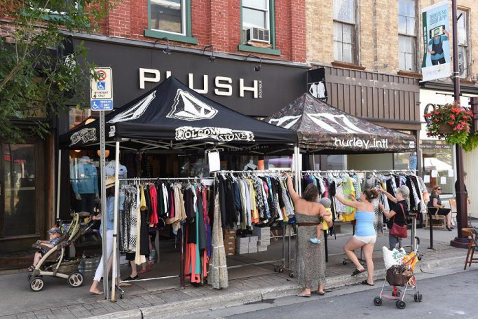 Peterborough Pulse is an opportunity for downtown Peterborough businesses to showcase their products and services to the many hundreds of people travelling along George Street and surrounding streets.  (Photo courtesy of Peterborough Pulse)