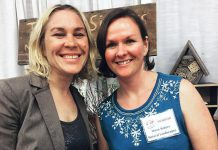 "Carlotta James and Megan Boyles of Three Sisters Landscaping are in their second year of membership with the Women's Business Network of Peterborough. Carlotta says she meets someone new at every meeting and benefits from the creative discussions that help her brainstorm new ideas for her landscaping business. ""I knew the WBN was a welcoming space to connect with great, strong, powerful women in the community."" (Photo: WBN)"