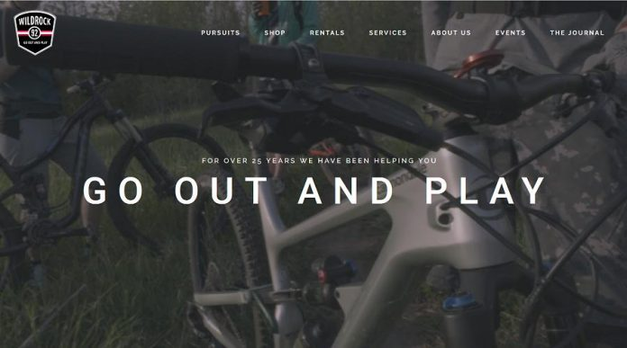 The new Wild Rock Outfitters website. (Screenshot)