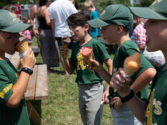 "Kids enjoy ice cream during Central Smith Creamery's ""Ice Cream Social"" on July 20, 2019. The event raised $13,420.25 for equipment and technology at Peterborough Regional Health Centre. (Photo: Ken Powell)"
