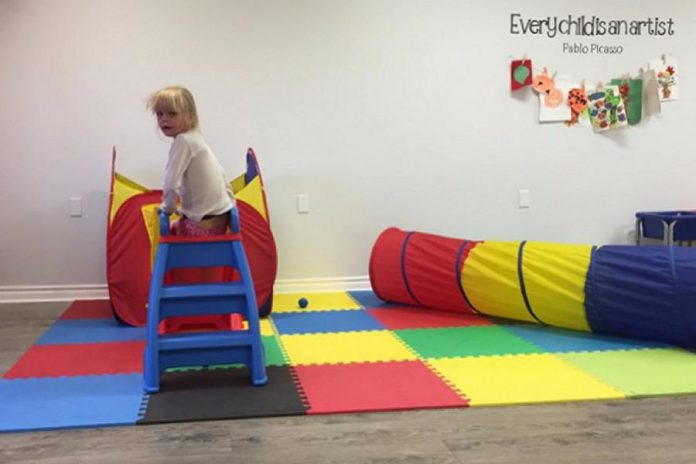 The first play gym area at Play Cafe Peterborough, which is celebrating its fourth anniversary. (Photo: Play Cafe Peterborough)