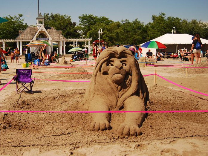 """""""Barkada"""" was the second-place winner in the amateur competition's adult category during the Cobourg Sandcastle Festival on August 3, 2019 at Victoria Beach in the Town of Cobourg. (Photo: April Potter / kawarthaNOW.com)"""