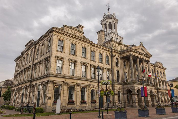 """American flags will be flying from Victoria Hall in Cobourg when the Netflix series """"Ginny & Georgia"""" is filmed in the town from August 26 to 28, 2019.  Cobourg will stand in for the  picturesque New England town of  Wellsbury, Massachusetts."""
