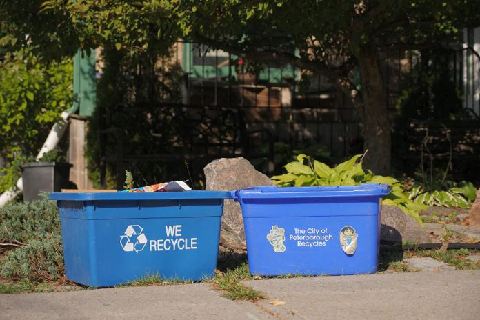 While the Government of Ontario is revamping the blue box program beginning in 2023 to make product manufacturers and retailers more responsible for the recyclable waste their packaging and products create, we'll still need to ensure the recyclable  packaging we put into our blue boxes is as clean as possible. (Photo:  GreenUP)