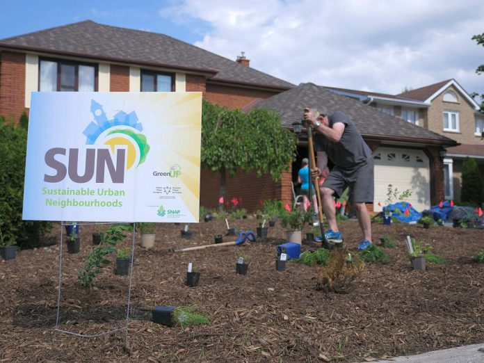 GreenUP's Sustainable Urban Neighbourhood (SUN) program has been working in the East City—Curtis Creek and Kawartha Heights Neighbourhood since 2017 to build more sustainable neighbourhoods. (Photo: GreenUP)