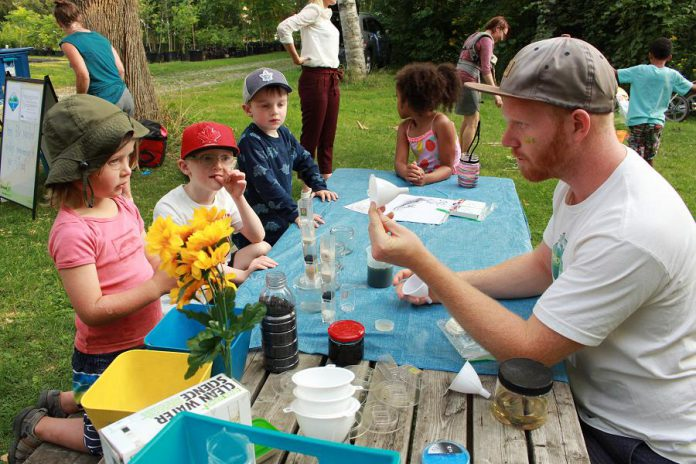 At GreenUP Ecology Park's Family Night and Lantern Walk on August 15, 2019, families will have the opportunity to build their own water filter while learning about clean drinking water. (Photo: GreenUP)