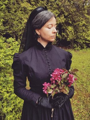"In the Victorian era, women were expected to dress in mourning attire for as long as two years after the death of a close relation. Queen Victoria set the standard for mourning, dressing in black every day for 40 years following the death of her husband Prince Albert. Learn more about 19th century mourning etiquette and attire during ""When Death Was in Fashion"" on August 10, 2019 at  Lang Pioneer Village Museum in Keene.  (Photo courtesy of Lang Pioneer Village Museum)"