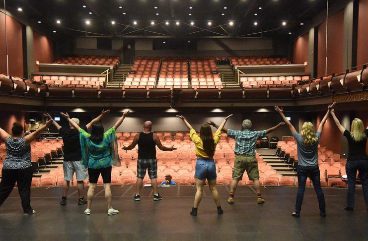 """A cast of 11 Peterborough performers has been rehearsing over the summer for """"Music of the 70's"""", a musical revue featuring 36 hits from the era that runs from September 20 to 22, 2019. Produced by Pat Hooper and directed by Len Lifchus, with music direction by Bill Crane, the show is a fundraiser for Showplace Performance Centre. (Photo: Wayne Bonner)"""