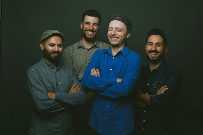 The Fraser Melvin Band (Jonathan Hyde, Alex Furlott, Fraser Melvin, Andrew Moljgun) bring their mixture of blues, roots, and R&B to the Black Horse in downtown Peterborough on Saturday, August 24th. (Publicity photo)