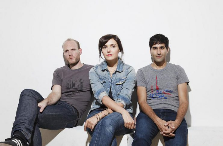 Nils Edenloff, Amy Cole, and Paul Banwatt are The Rural Alberta Advantage. The Juno-nominated indie rock band headlines the final concert of Peterborough Musicfest's 33rd season on August 17, 2019 at Del Crary Park in downtown Peterborough. (Photo: Vanessa Heins)