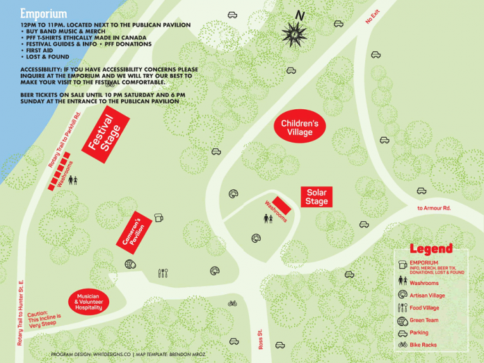Peterborough Folk Festival map